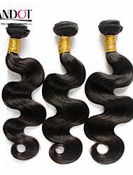 """4 Stück Menge 8 """"-30"""" indian unverarbeitete reine remy Haarkörperwelle natürliches schwarzes Menschenhaar-Webart wellig Bündel verwirren"""