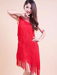 Accesorios/Vestidos ( Rojo , Poliéster , Danza Latina ) - Danza Latina - para Mujer/Niños