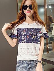Normaal - Dun - Casual - T-shirt ( Overige )met Korte mouw