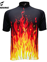 Getmoving Fine Workmanship of Professional Outdoor Cycling Wear Short Sleeved Shirt + Red Flame