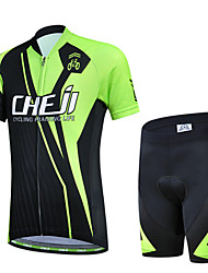 Short Sleeve Cycling Polyester +Coolmax Jersey & Pant Set Wear Clothing for Kid's