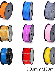 3D Printer Dedicated 3.00mm Filament PLA Print Materials (130m)-Assorted Color