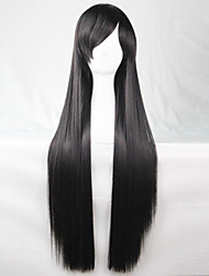 New Anime Cosplay Long Black Straight Hair Wig 80CM
