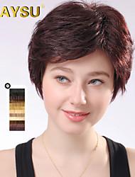 attrayants remy vierge de cheveux humains courte ondulées top mono perruques