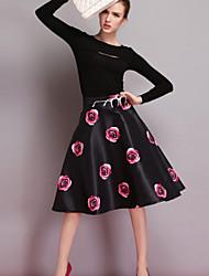 Damen Röcke  -  Leger Baumwolle Mikro-elastisch