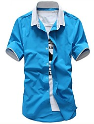 Men's Solid Color Casual Shirts