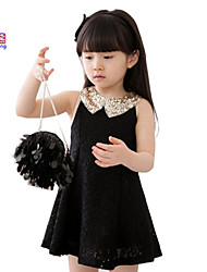 Waboats Girls Sequins Lace Sleeveless 3-7 Years Party Dress