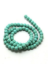 Beadia 2Str x 38Cm(Approx 130PCS) Turquoise Stone Beads 6mm Round Gemstone Loose Beads