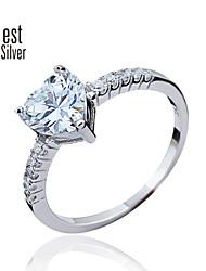 925 Sterling Silver Diamond Ring for Women South Korea's Diamond Engagement Rings J050