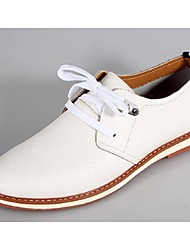 Men's Shoes Casual Leather Oxfords Brown/White