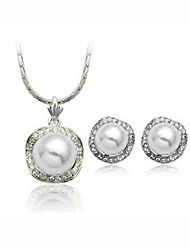 European Style Fashion Elegant Diamond Necklace & Earrings Sets