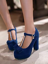 Zapatos de mujer - Tacón Stiletto - Tacones / Punta Redonda - Tacones - Oficina y Trabajo / Vestido - Semicuero - Negro / Azul / Rojo