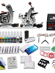 New Style 2 Tattoo Machine Guns Tattoo Kit 28 Inks
