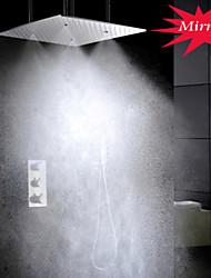 thermostatique robinet salle de douche, tête de pulvérisation et le bain de douche à effet pluie de 20 pouces et massage spa jets