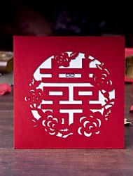 Имя, надпись на заказ Открытка-карман Свадебные приглашения Пригласительные билеты-20 Шт./набор Картон
