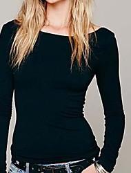 Damen T-Shirt Baumwolle Langarm