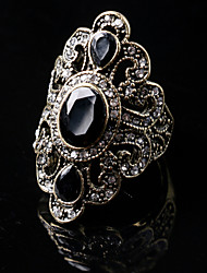 Party/Casual National Style Vintage Alloy/Resin Gemstone Statement Ring