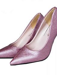 Women's Shoes Lace Stiletto Heel Heels/Pointed Toe Pumps/Heels Office & Career/Dress Black/Purple/White