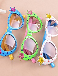 Toddlers Plastic Frame Sunglasses Crowns Stars Round Shades (Random Color)
