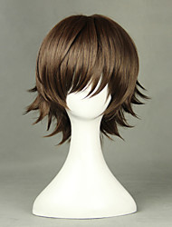 Cosplay Wigs Cosplay Cosplay Brown Short Anime Cosplay Wigs 35 CM Heat Resistant Fiber Male / Female