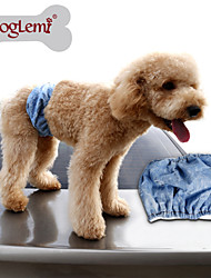 Blue Cosplay Cotton Pants for Dogs
