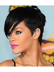 Fashion Black 1B Color Short Straight  Woman's Synthetic Wigs Hair Freeshipping