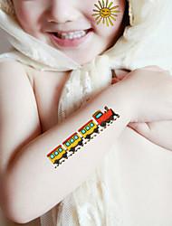 Yimei - Tatuajes Adhesivos - Non Toxic/Waterproof - Otros - Bebé/Niños/Girl/Boy - Multicolor - Papel - 5 - 20.5*10.5cm - HM778
