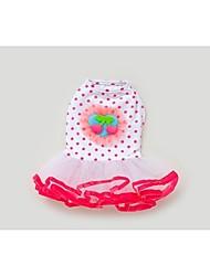 Dog Dress Pink Summer Fruit / Polka Dots