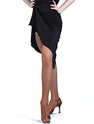 Латино Нижняя часть / Набедренные повязки для танца живота Жен. Выступление / Учебный Молочное волокно 2 предмета Средняя талия