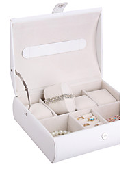 Non-personalized Glam Leatherette Amphibious Watches Jewelry Box With 4 Slots Watch Case Jewelry Display Box