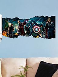 stickers muraux autocollants de mur, 3d l'autocollant avengers héros de mur de PVC