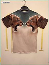 New Fashion Men's 3D Print Punk Gothic Short Sleeve T-Shirt Hip-hop Casual Tops(M-XXL)
