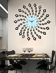 métal de style moderne mute horloge murale