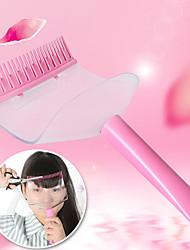 cabeleireiros bangs ferramentas de estilo de cabelo cortado torcedor do pente estrondo ferramenta de corte (cor aleatória)