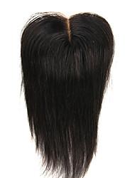 3.5x4 Brazilian Human Virgin Hair Light Brown Base Color  Top Closure Silky Straight