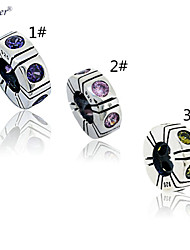 Euner® 925 Silver Spacer Trinity Charm Bead Fit for European Bracelets
