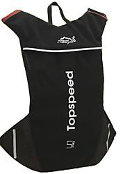 deportes de los deportes de nylon unisex 's&bolsa de ocio - rojo / negro