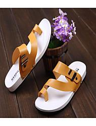 zapatos de los hombres inferiores suaves de plástico plana del dedo del pie de la manga de las sandalias y zapatillas sandalias 2015 venta