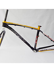 "MB-NT02+FK-NT19 Neasty Brand  Full Carbon Fiber Gold white Color Decal 26er MTB Frame and Fork 15""/17"""