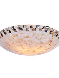 BOXOMIYA® Mediterranean Mosaic Shell Lamp 40 Cm European Bedroom Ceiling Lamp