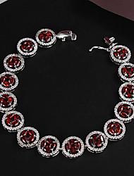 nuovi prodotti partito platino placcato link / catena di perle grande lustro reale zircone cristallo