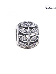 Euner® Sparkling Leaves Openwork Charm Wholesale Guaranteed 925 Solid Silver Charms Loose Beads Silver Beads