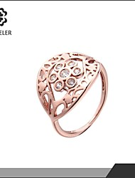 Sjeweler Girls Latest Rose Gold Plated Zircon Wedding Ring