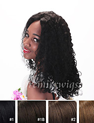 New arrival 10''~24'' 10mm curly Remy Virgin Indian Human Hair Wigs Silk Top Full Lace Wigs for black women