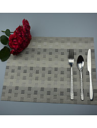 "2PCS European Style High Quality PVC Dining Coasters Table Placemats (12""x18"")"