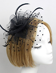 Women Feather/Net Bride Flowers With Wedding/Party Headpiece(More Colors)