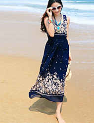 Women's Beach Party Micro Elastic Sleeveless Maxi Dress (Chiffon)