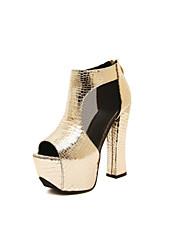 Women's Shoes  Stiletto Heel Heels/Peep Toe Sandals Casual Black/Gold