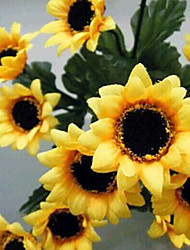 A Bunch Of 7 Y 14 Sunflower Head Cloth Flowers (1PCS)