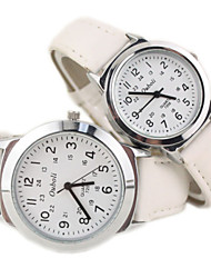 Ligne décontractée montre-bracelet PU bande de quartz de quelques